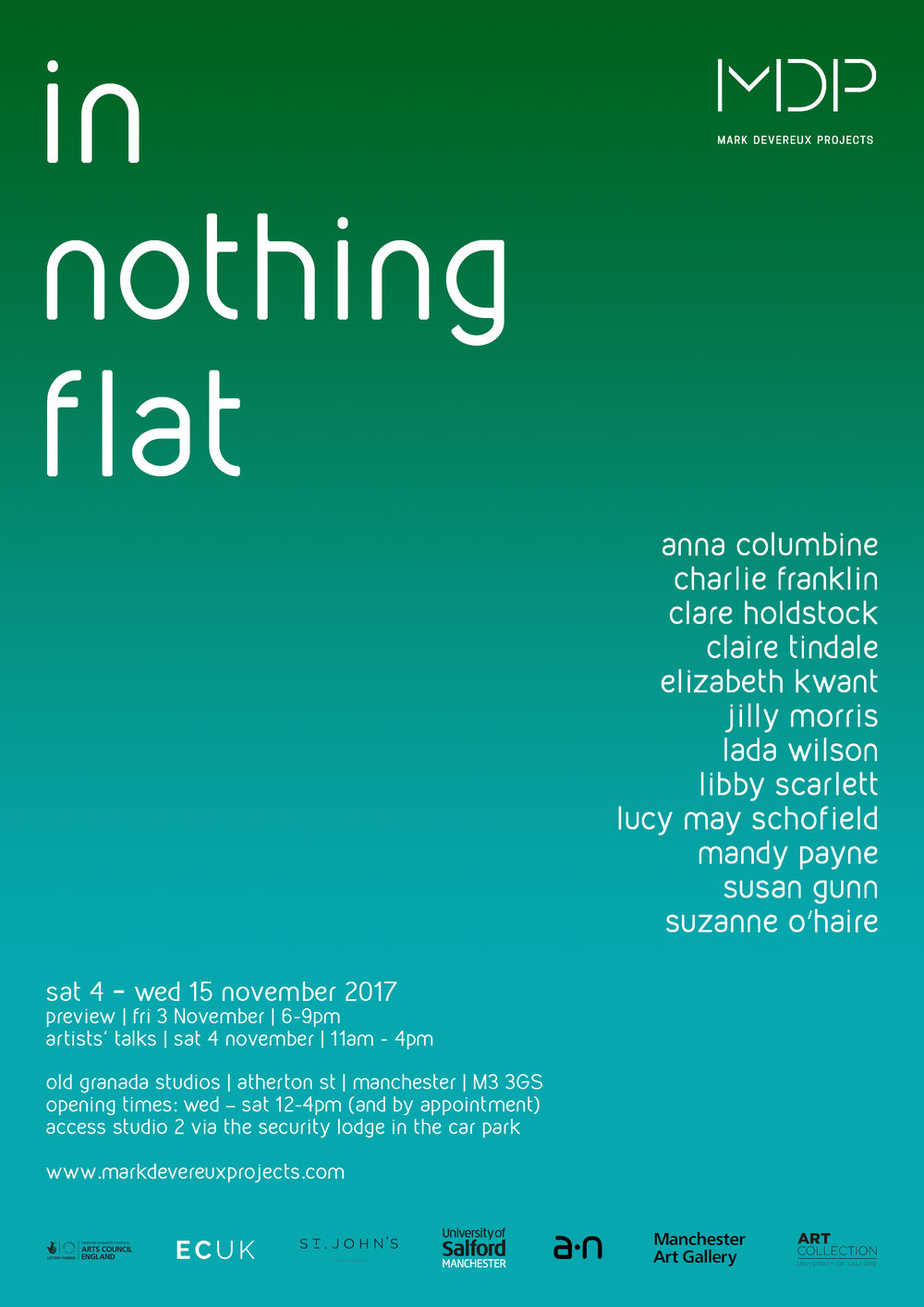 In  Nothing Flat  -   Preview 3rd November 6.00-9.00pm