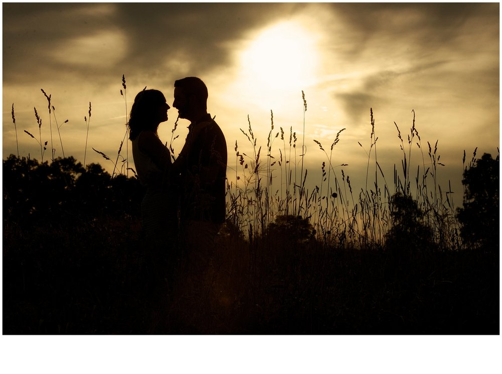 Sunset engagement session at Natirar in gladstone new jersey