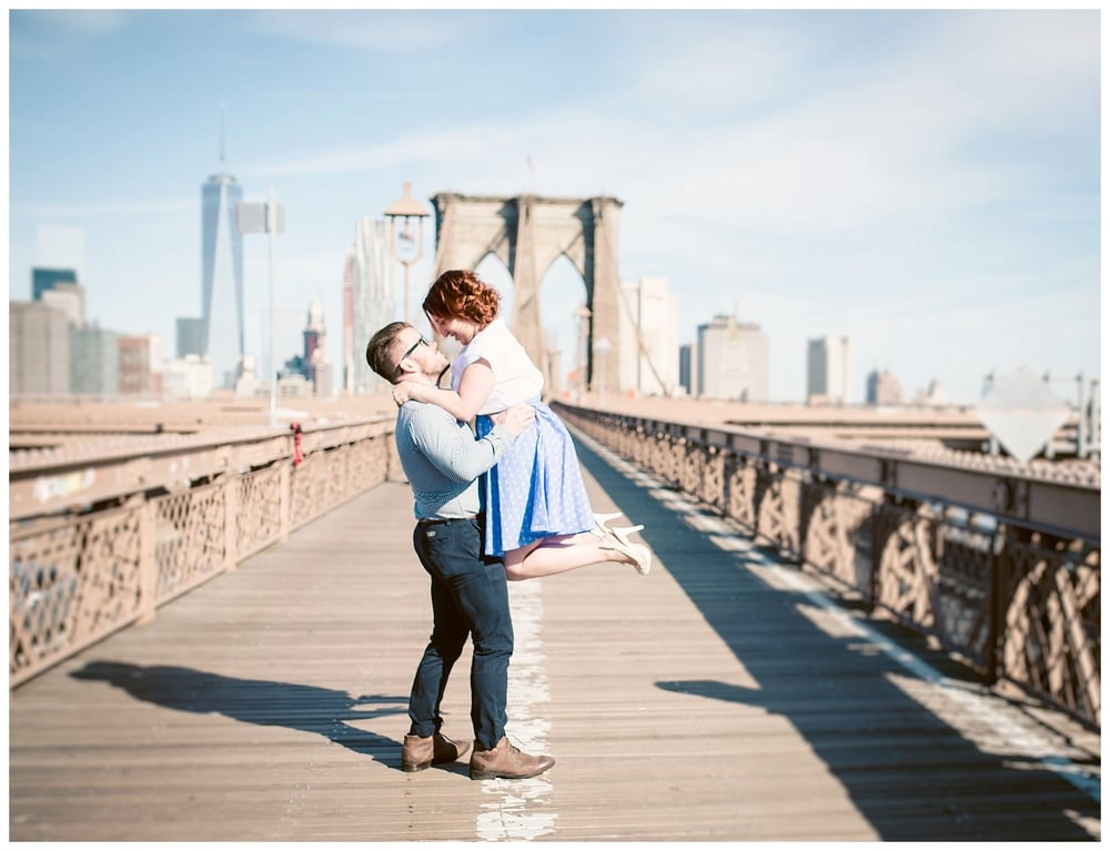 engagement session on the brooklyn bride in brooklyn new york