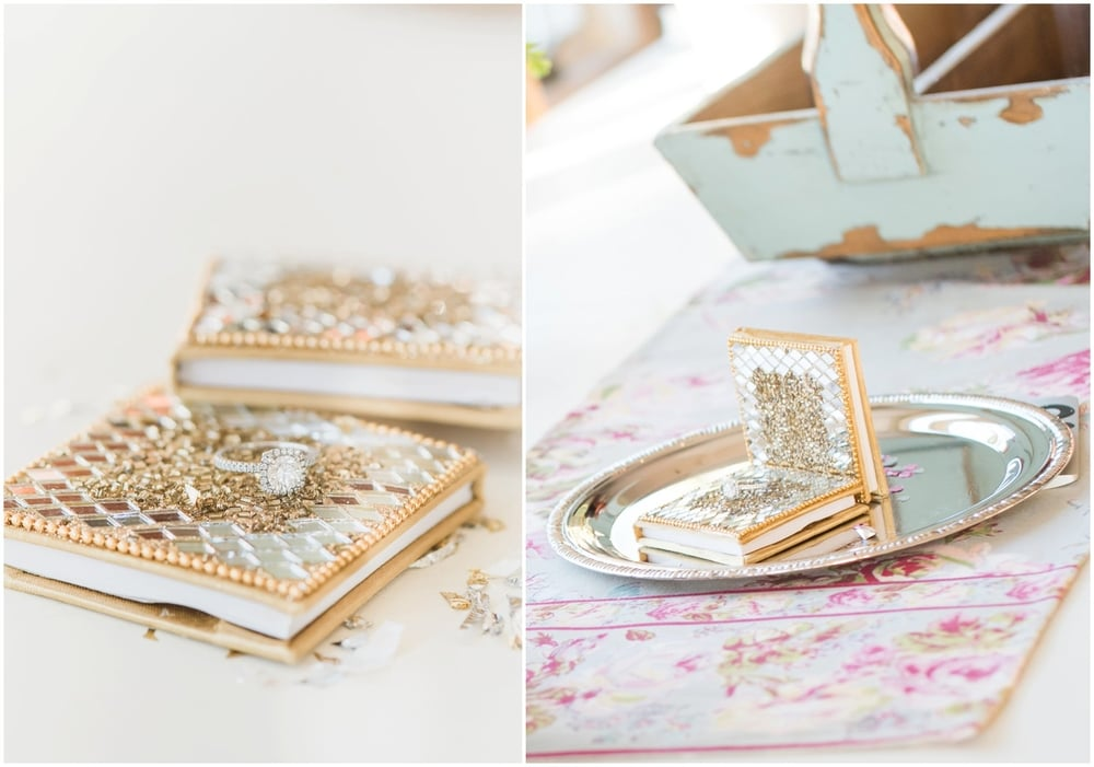 Here are some of my pretty little helpers when creating the image.  The ring is sitting on top of these little memo pads I found in Pier 1 imports!