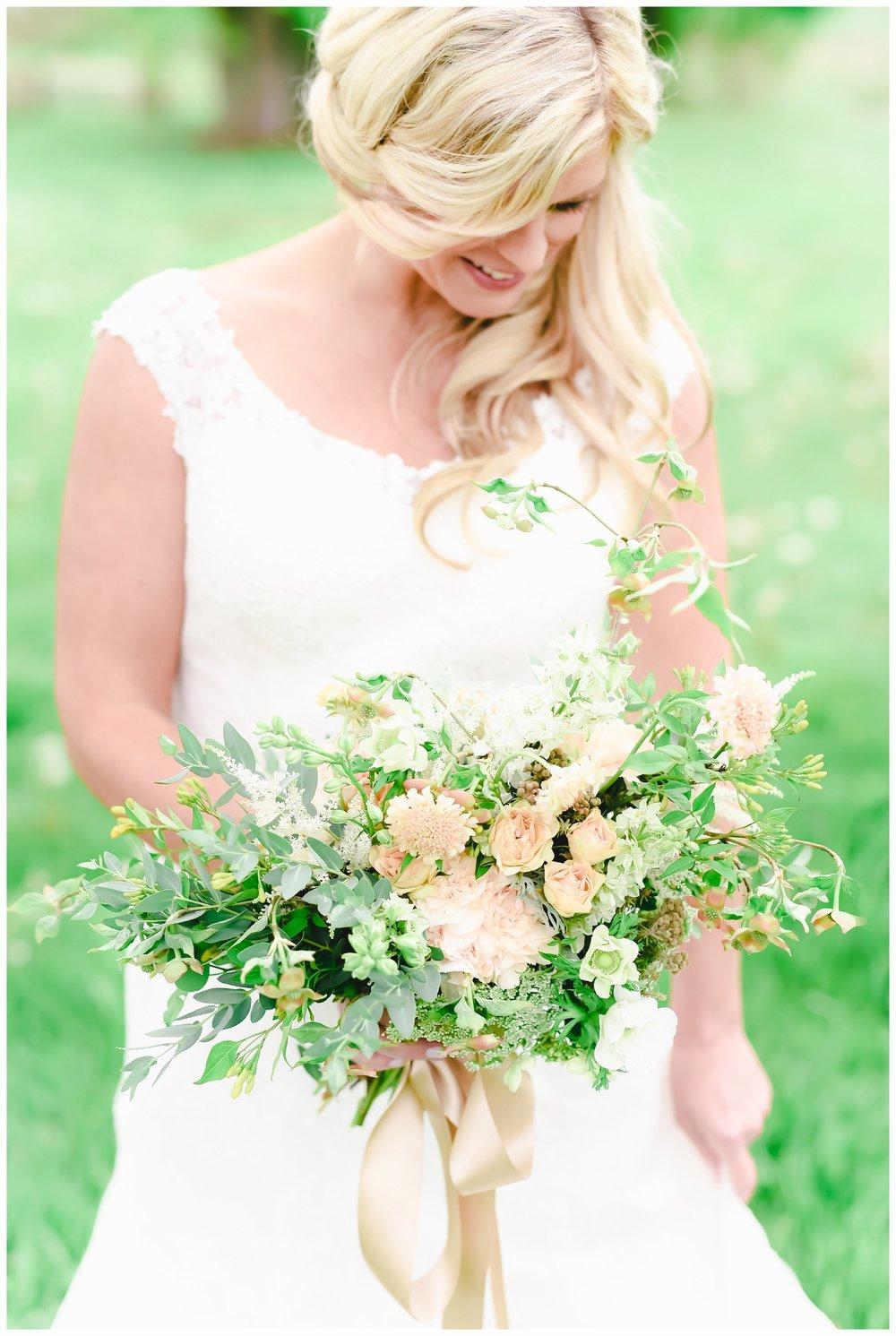 Bride at Sterlingbrook Farm Wedding Venue