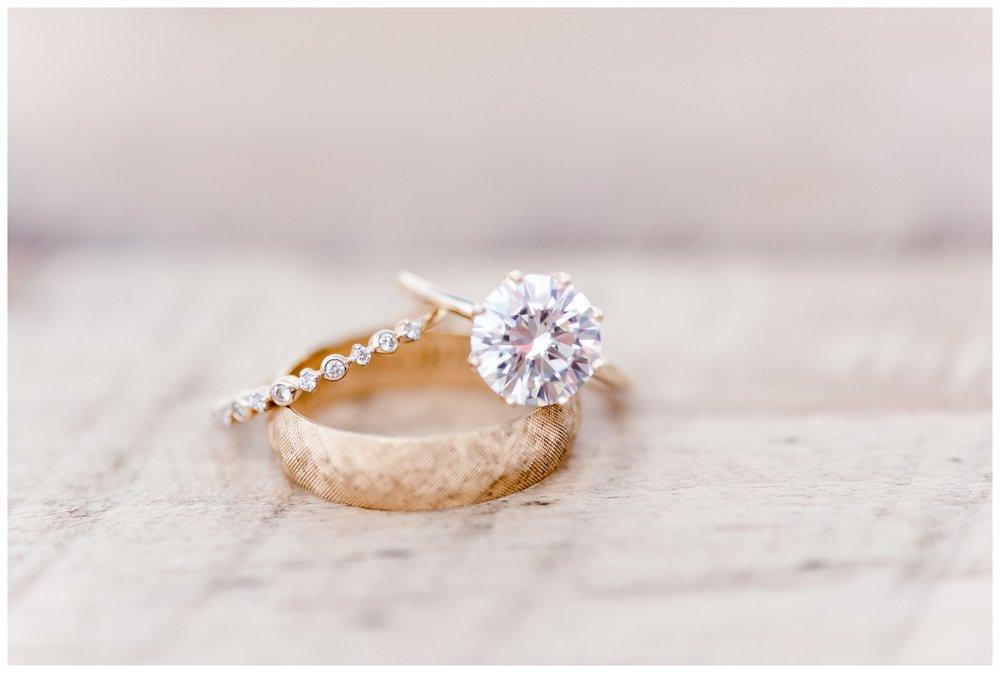 strand of three, wedding rings