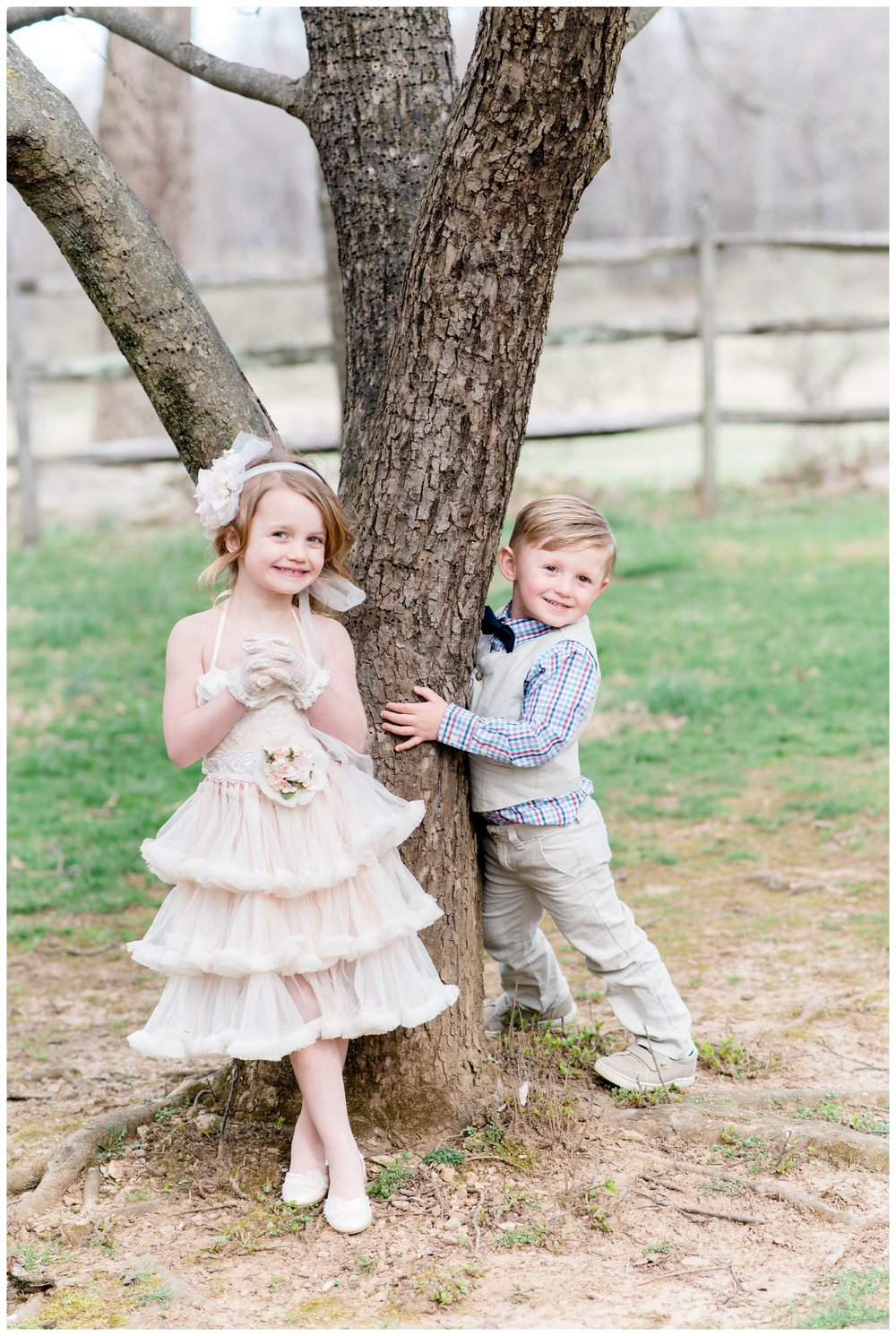 little girl and boy easter cloths
