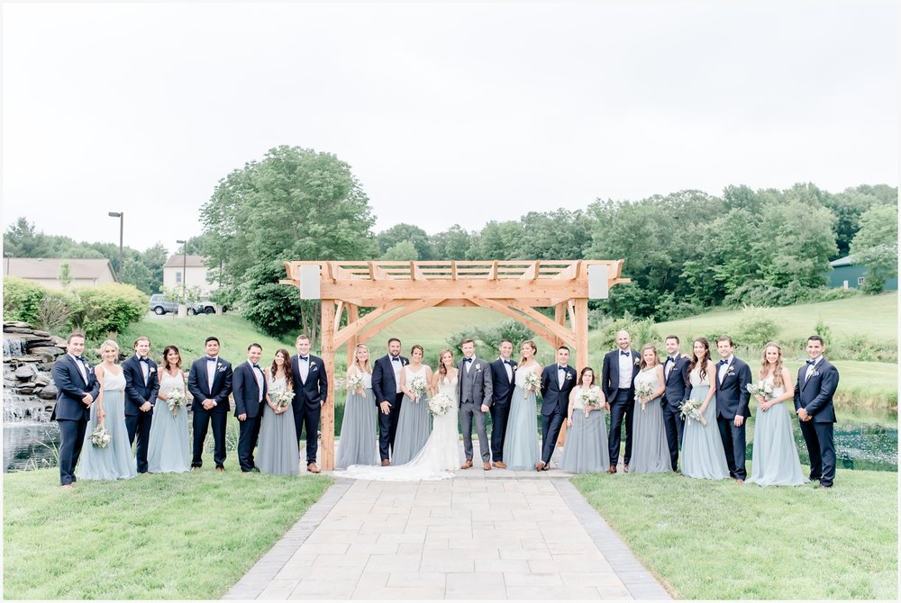 bear brook valley bridal party pictures