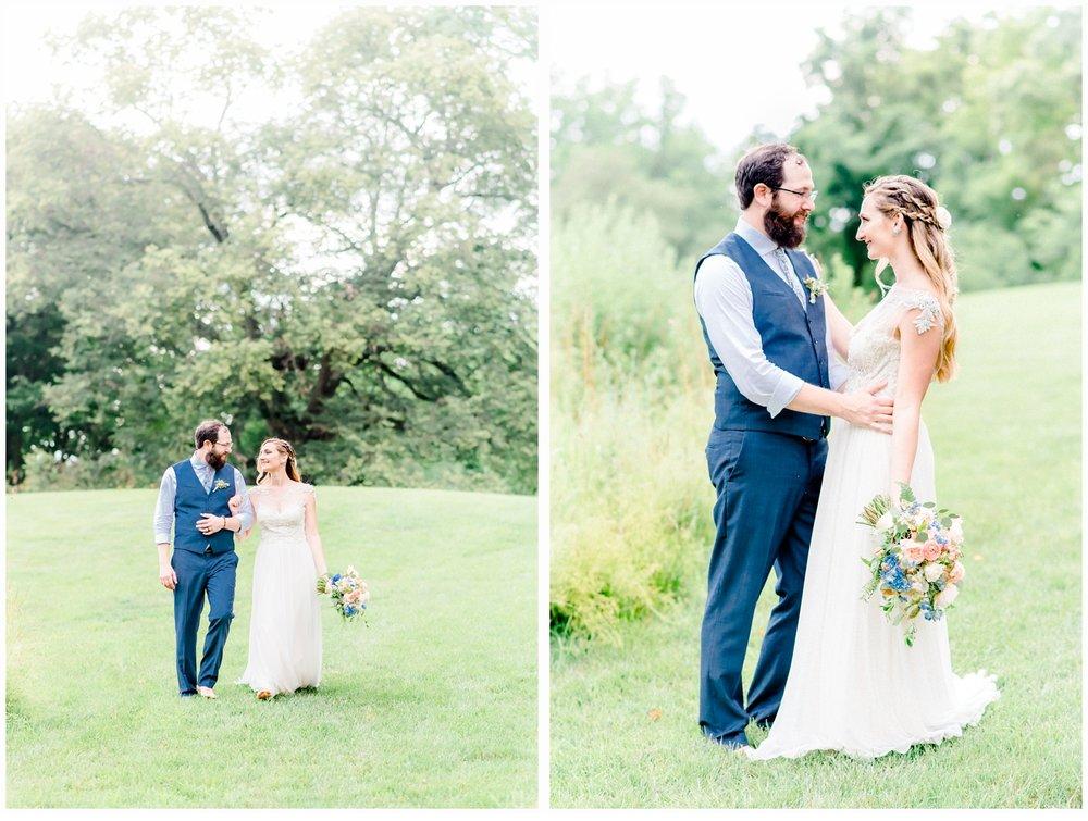 wedding portraits garden setting