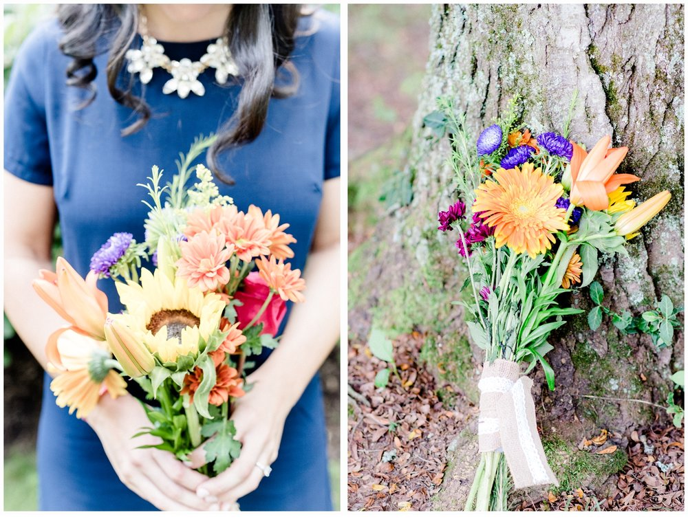 pretty bouquets for engagement session