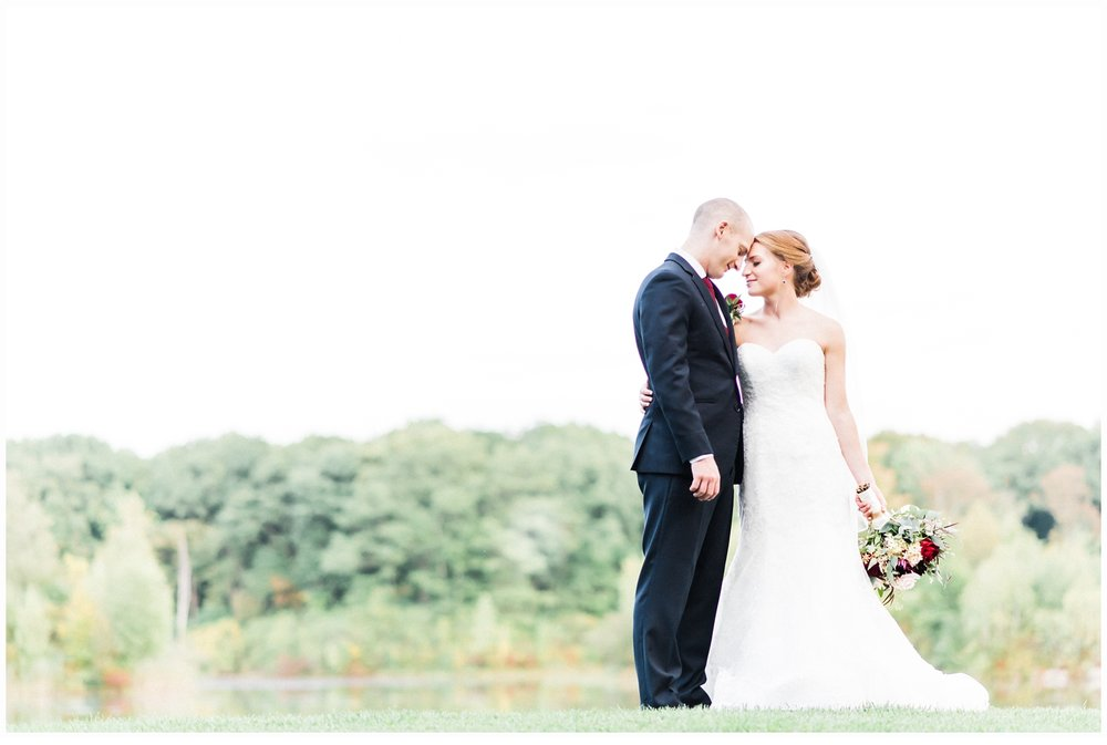 lakeside wedding portraits
