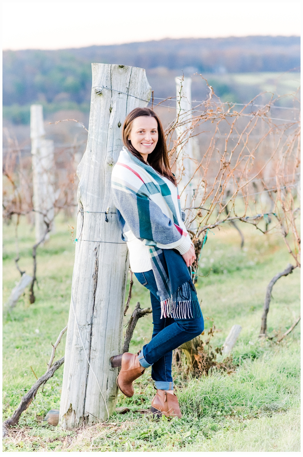woman in a winery grove
