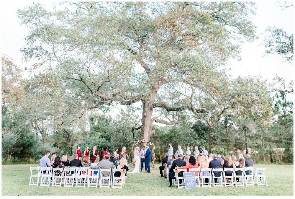 wedding ceremony under a big tree