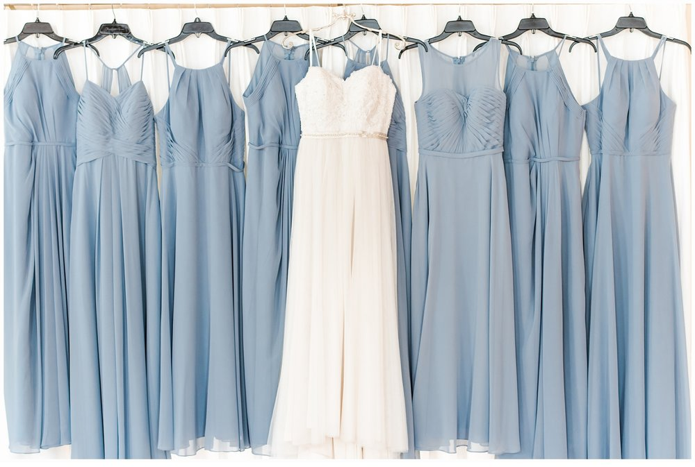 bridesmaids blue dresses