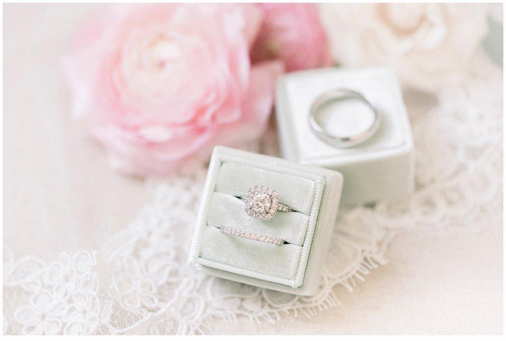 wedding rings in velvet wedding box