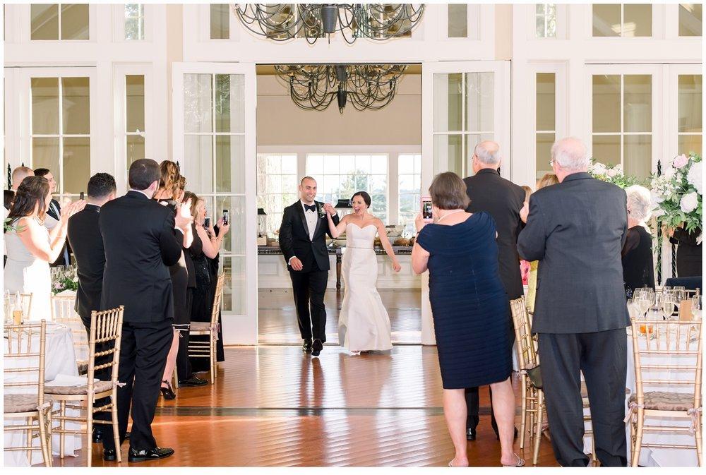 bride and groom introduction into wedding venu