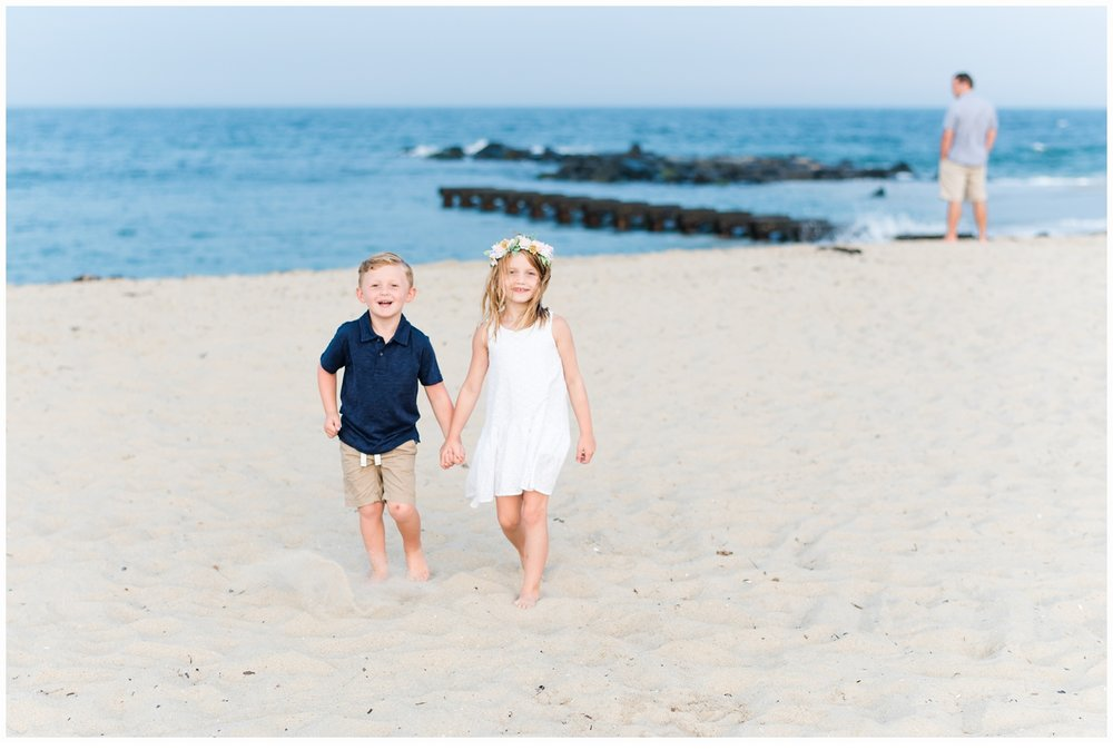 children walking on beach