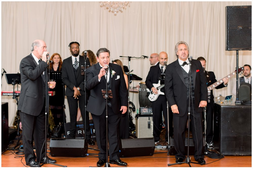 father of the bride singing with band