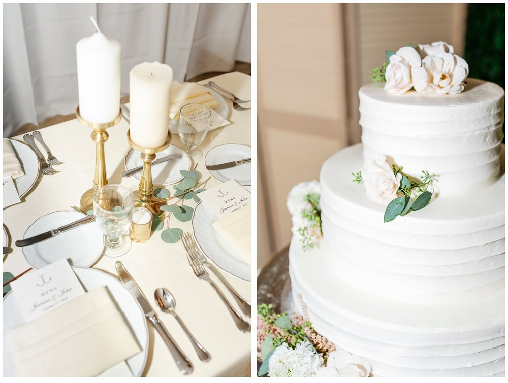 wedding cake at spring lake bath and tennis club spring lake nj