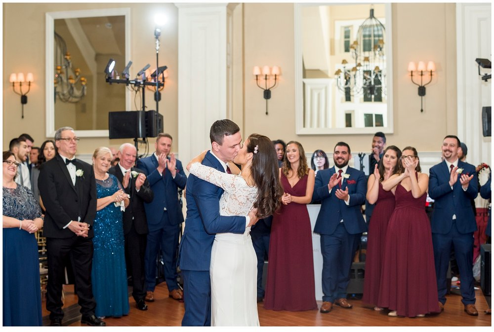 bride and groom's first dance at their wedding