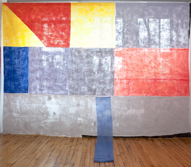 The Day ,  2011, 12' x 22' x 3',  latex on fabric and daylight,