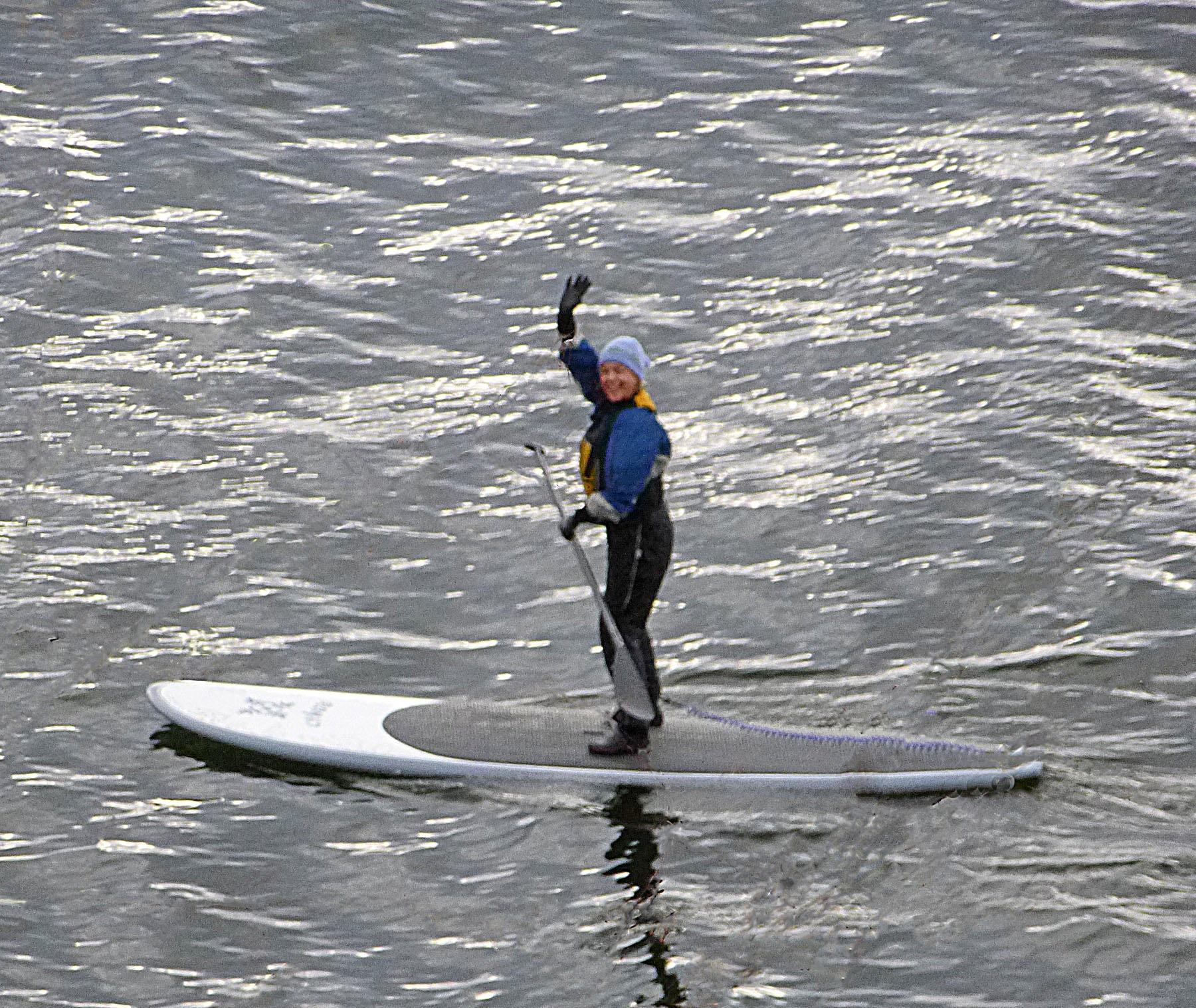Paddleboarding - by Erika Senft Miller