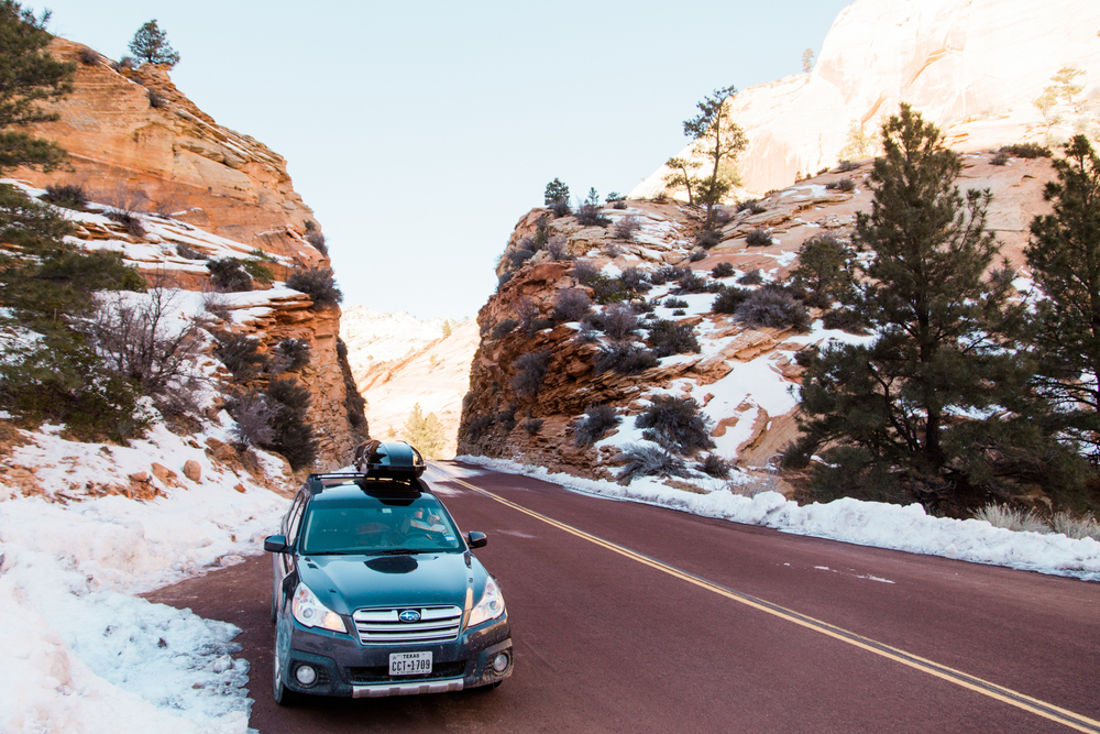 winter in zion national park | www.abbihearne.com