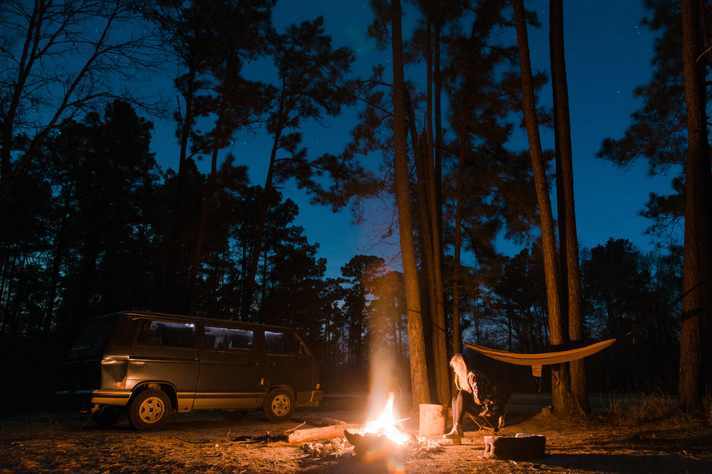 vanagon camping in sam houston national forest | www.abbihearne.com