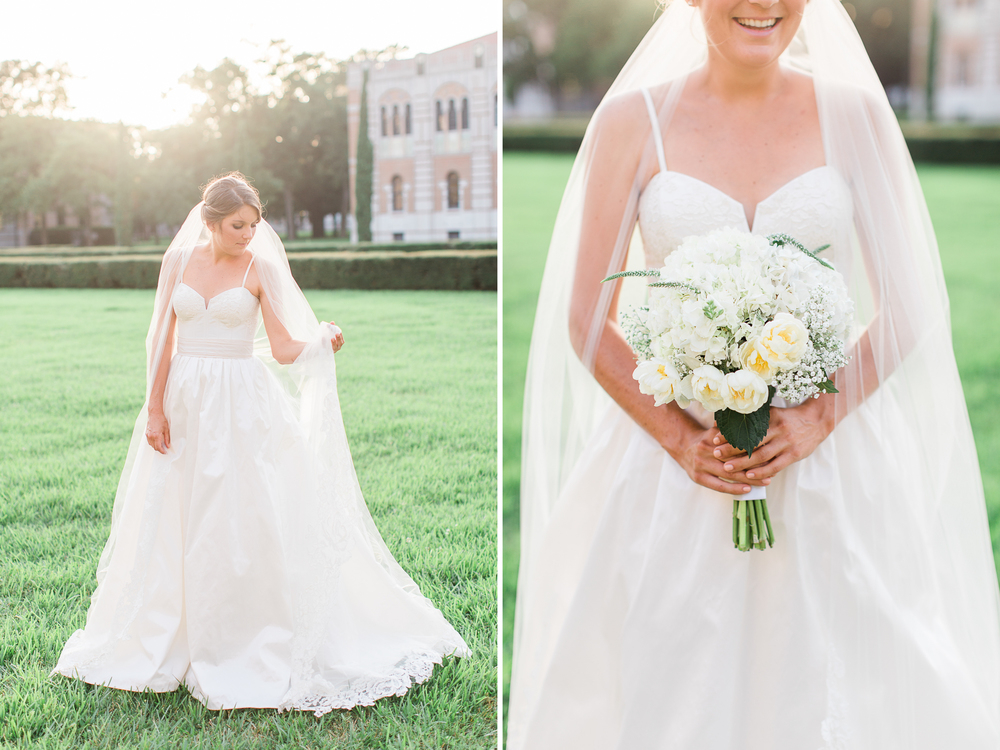 Texas bridals at Rice University // natural light wedding photographer // www.abbihearne.com