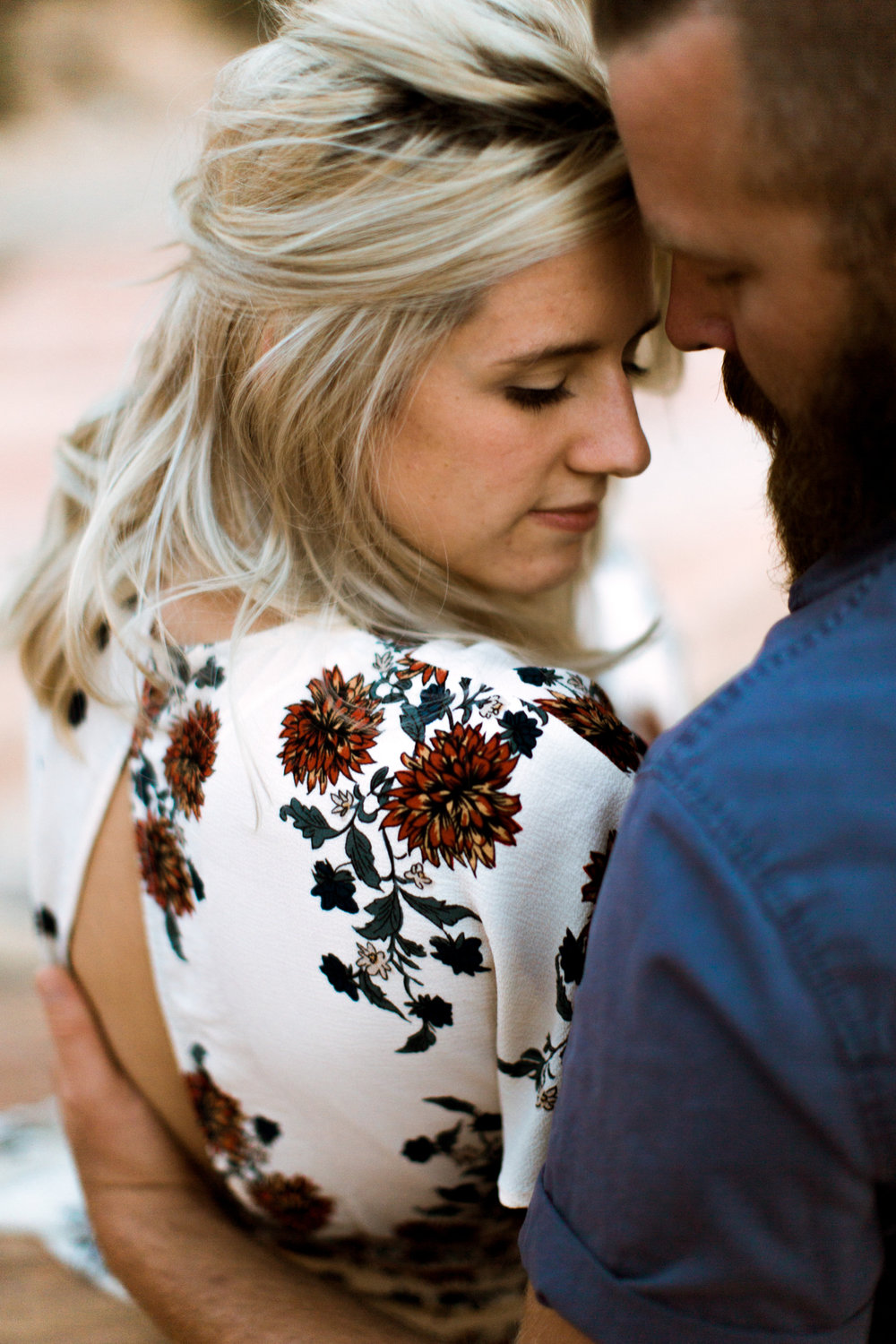Zion National Park anniversary portrait session // adventure wedding photographer // www.abbihearne.com