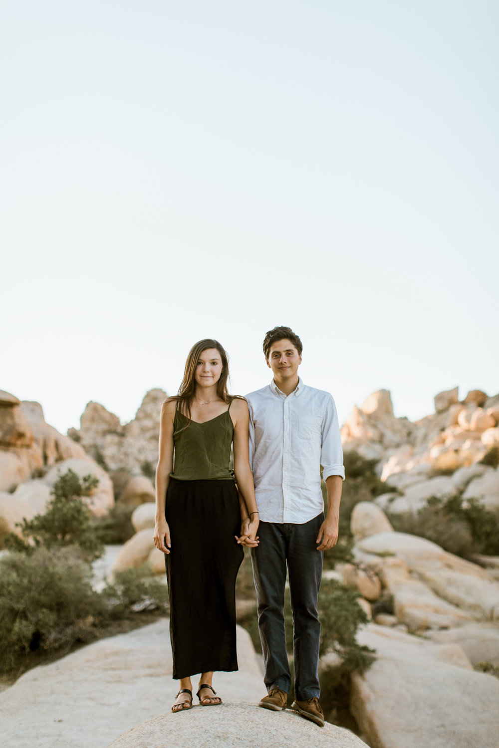 Joshua Tree National Park adventure portrait session // adventure wedding photographer // www.abbihearne.com