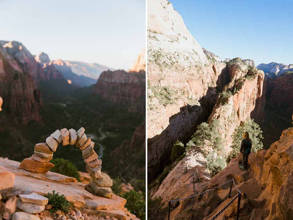 Hiking Angel's Landing in Zion National Park // adventure photographer // www.abbihearne.com