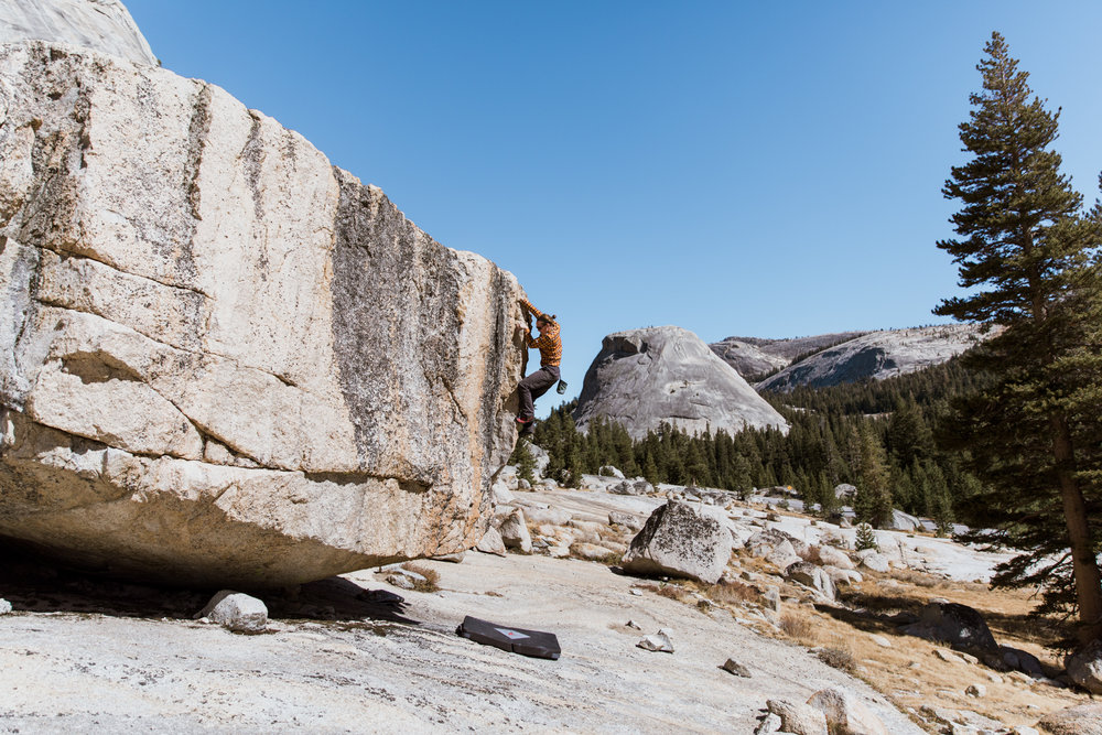 Bouldering in Yosemite National Park // California Adventure Photographer // www.abbihearne.com