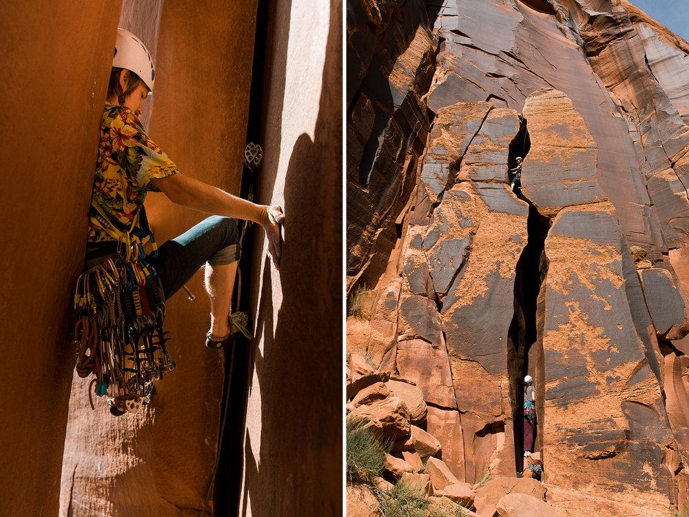Moab Utah adventure climbing Photographer // www.abbihearne.com