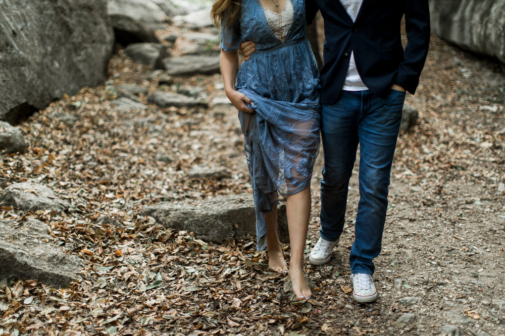 Austin, Texas engagement session in Bull Creek // Adventure Wedding Photographer // www.abbihearne.com
