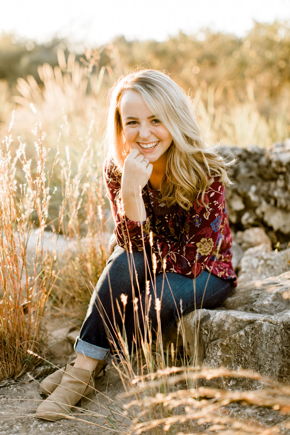 senior portraits at stone oak park // san antonio, texas senior photographer // www.abbihearne.com