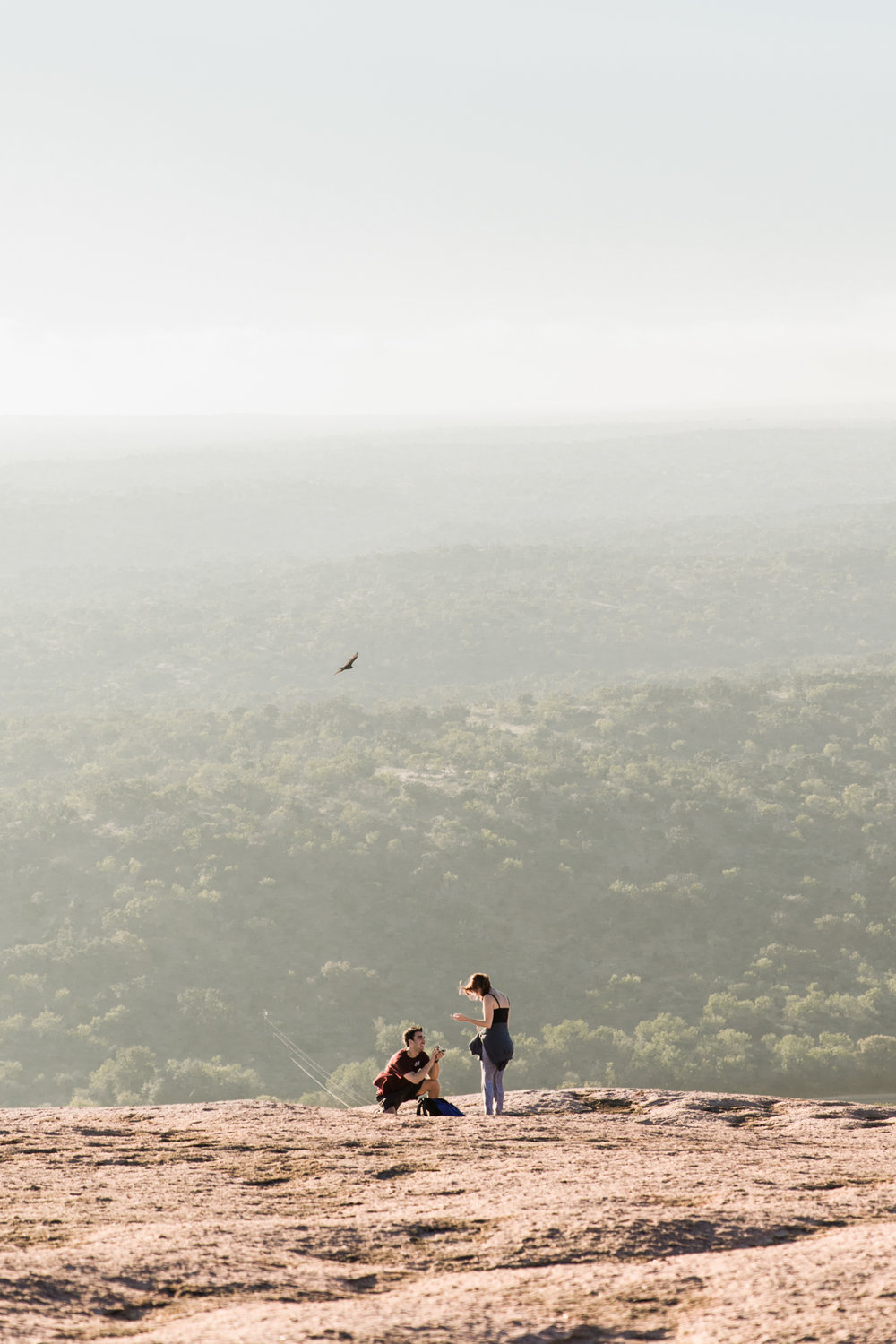 enchanted rock sunrise proposal // central texas engagement photographer // www.abbihearne.com