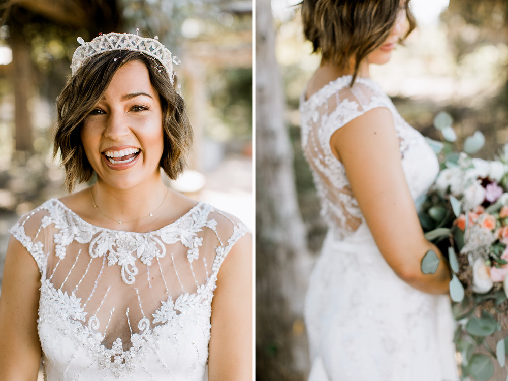 hipster bride // Fall Garden party wedding at Lady Bird Johnson Wildflower Center // austin, texas wedding photographer // www.abbihearne.com