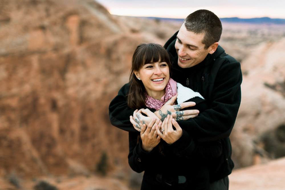 moab mountain + desert engagement session // utah adventure wedding photographer // www.abbihearne.com