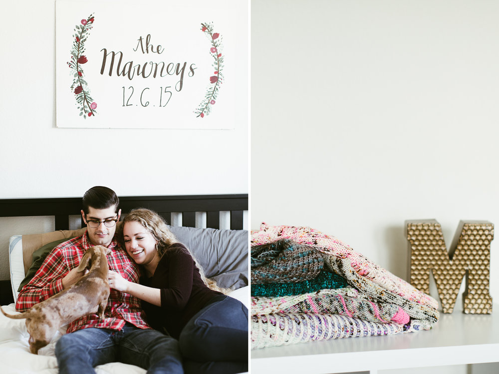 austin, texas in-home couples session // anniversary photos // www.abbihearne.com