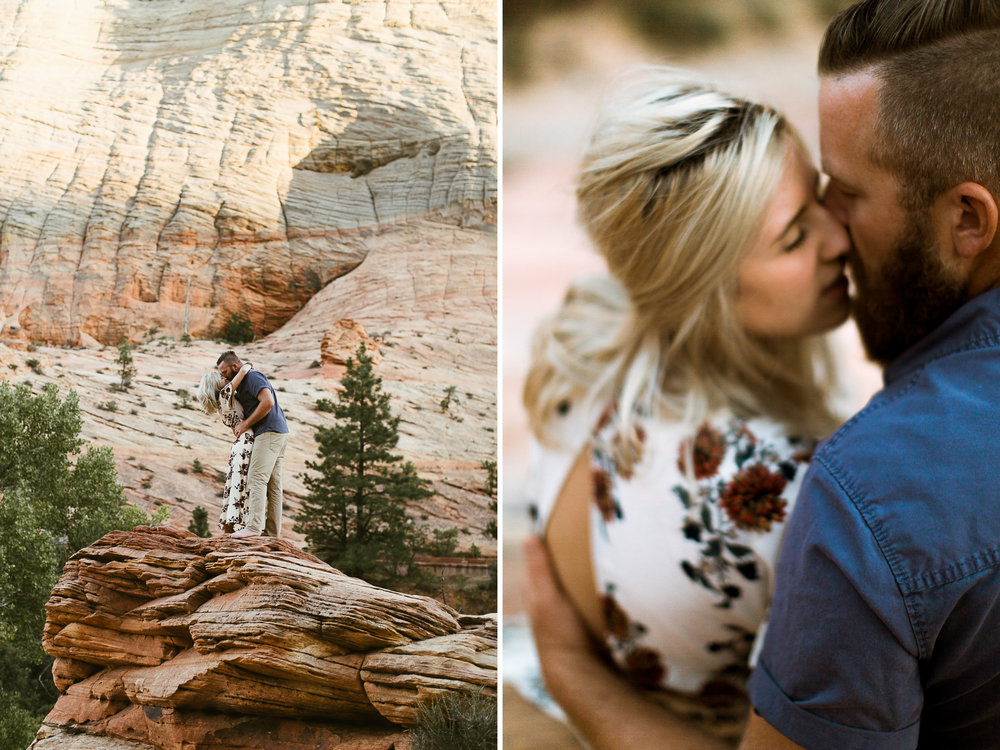 Zion National Park anniversary couple photo session // best of 2016 // adventure wedding photographer // www.abbihearne.com