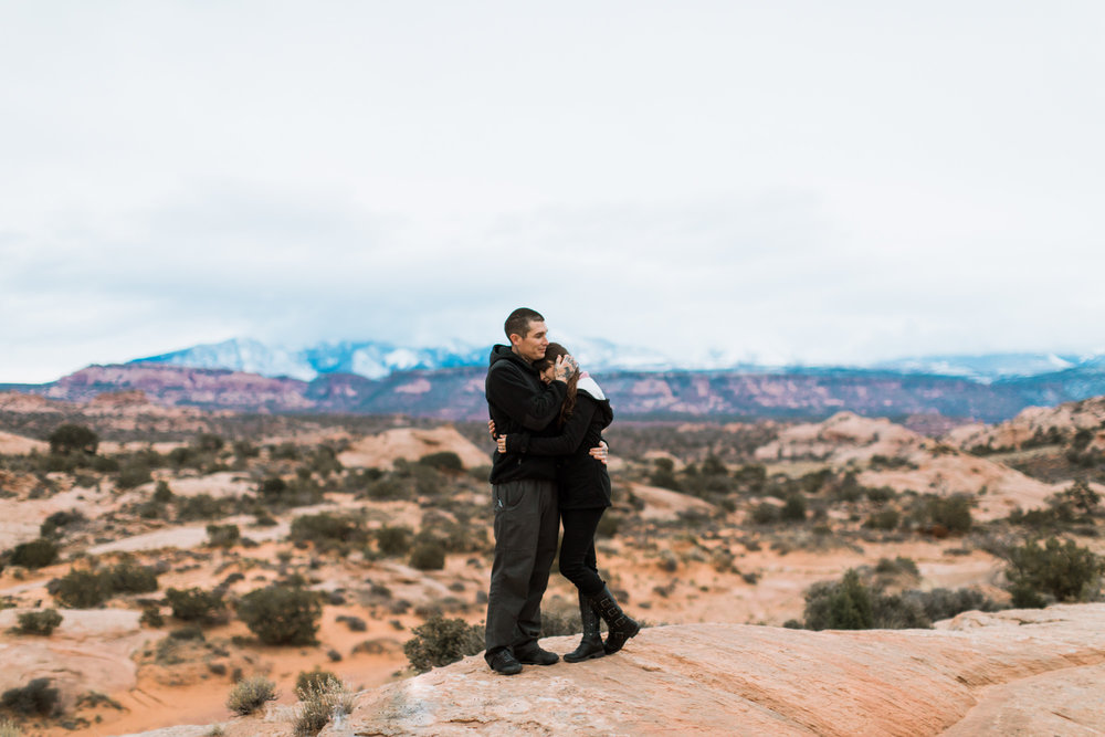 moab, utah engagement photo session // best of 2016 // adventure wedding photographer // www.abbihearne.com