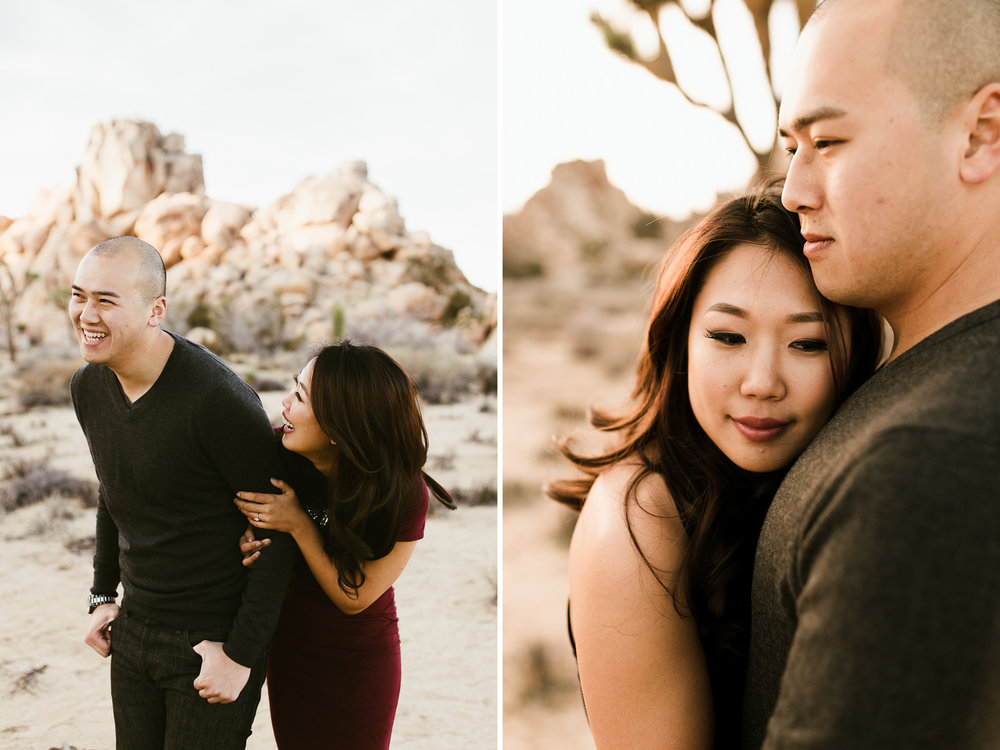 joshua tree national park engagement photo session // best of 2016 // adventure wedding photographer // www.abbihearne.com