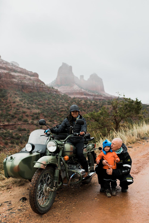 desert family adventure session in sedona, arizona // adventure wedding photographer // www.abbihearne.com