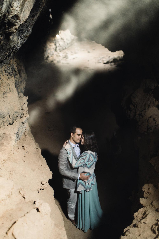 lava tube + joshua tree + granite pass engagement session // mojave national preserve // california wedding photographer // www.abbihearne.com