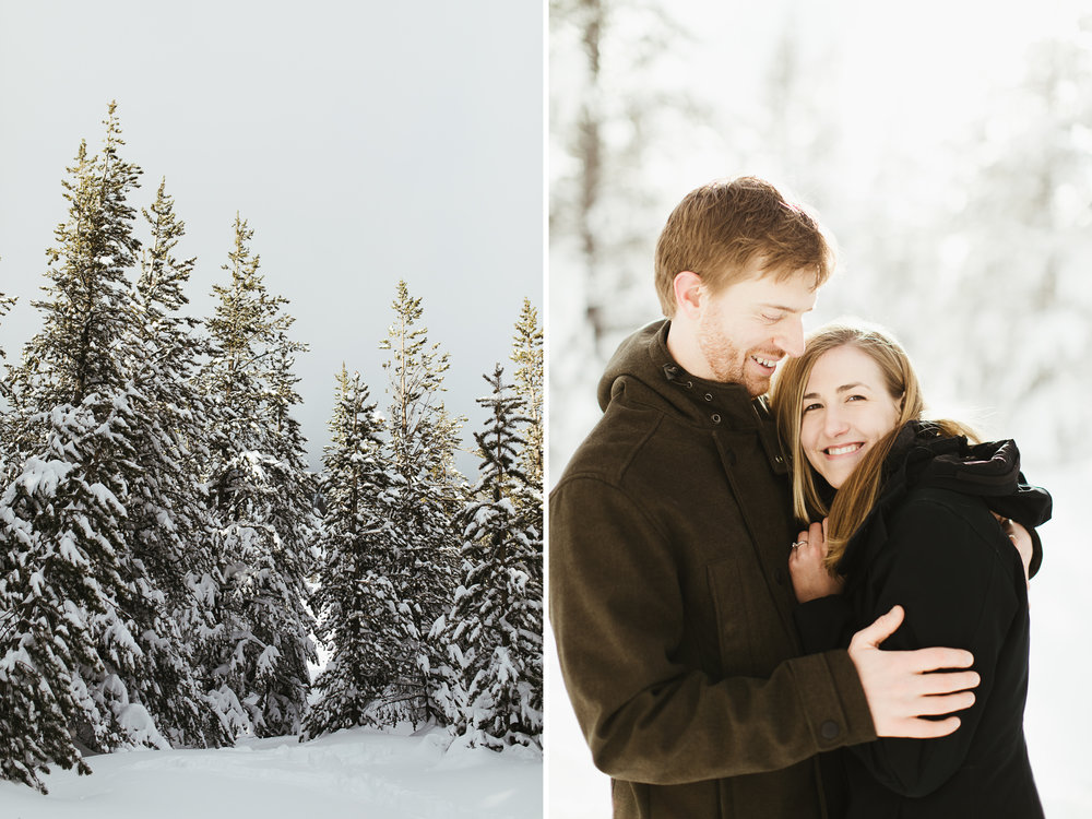 snowy lake tahoe engagement photos // california wedding photographer // www.abbihearne.com
