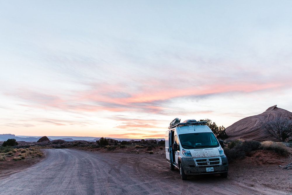 van life in moab, utah // our promaster van build // pendleton styled camper