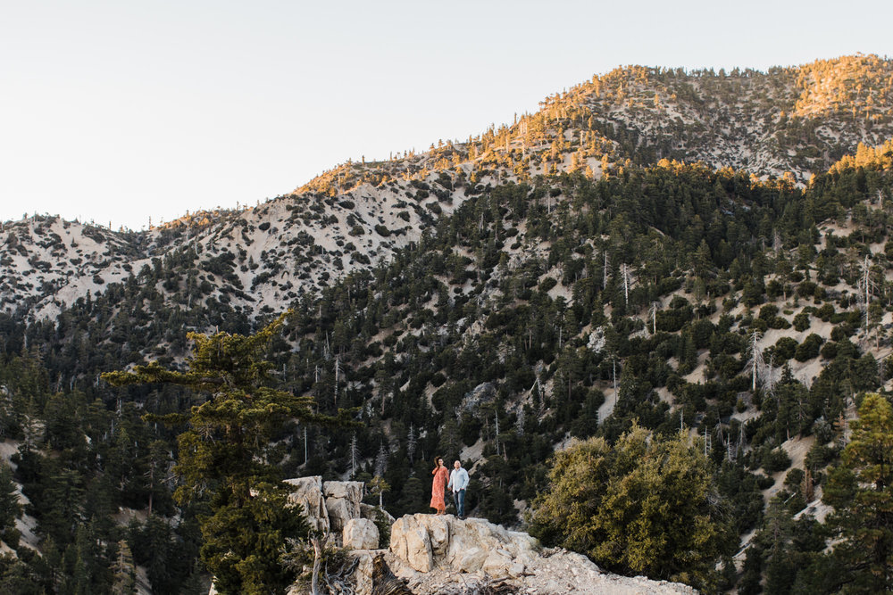 California Mountains Engagement Photos | Angeles National Forest Engagement Session | California Adventure Wedding Photographer