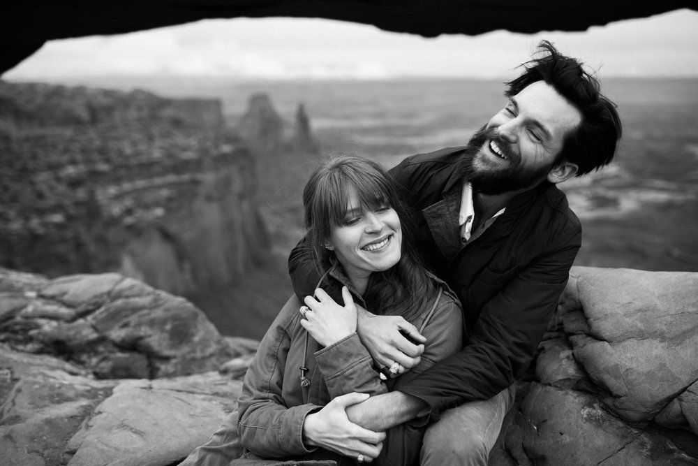 Courtney + Nathan | Moab Wedding Portrait Session in Canyonlands National Park | Desert Wedding Inspiration | Utah Adventure Wedding Photographer | www.thehearnes.com