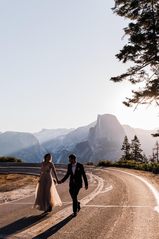 intimate elopement in yosemite national park