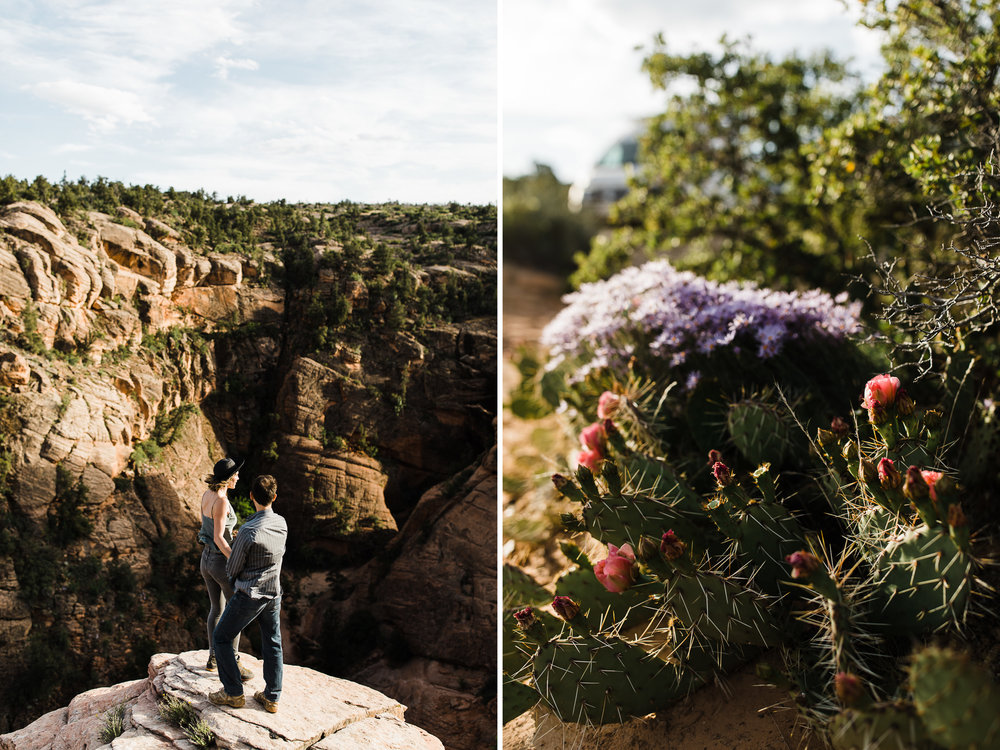 st.geoge desert engagement session | utah adventure wedding photographer | dixie national forest | www.thehearnes.com