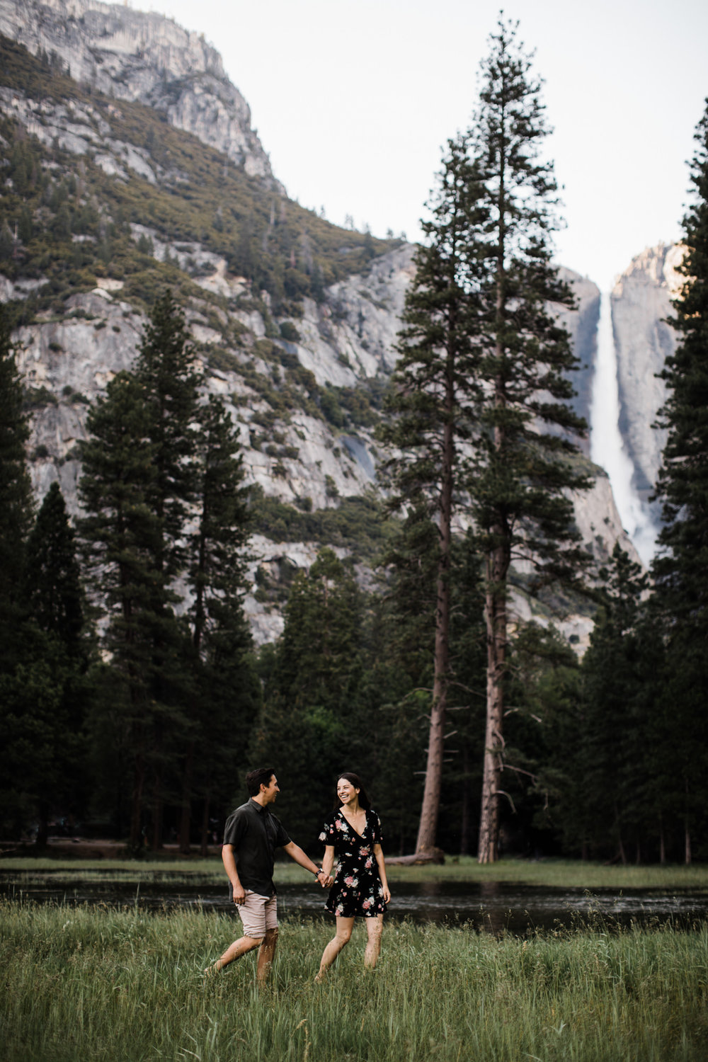 Yosemite adventure engagement session | national park sunset photos | california intimate wedding photographer | half dome engagement photos | www.thehearnes.com