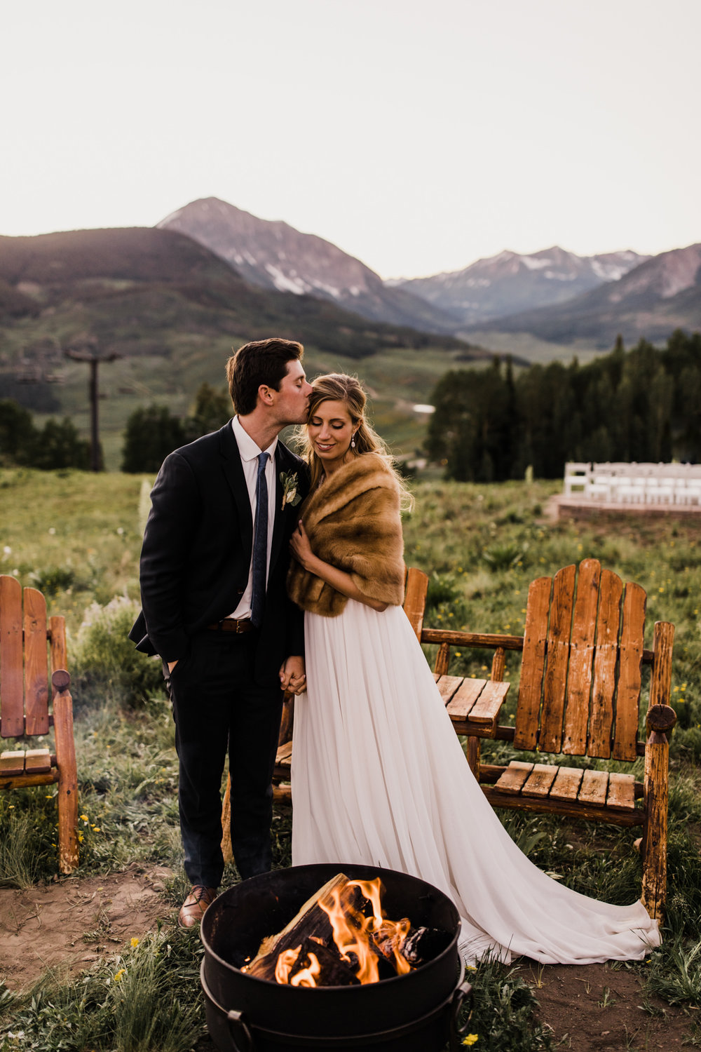 laurann + matt's intimate wedding | ten peaks ceremony site | crested butte mountain resort | colorado wedding photographer | the hearnes adventure photography