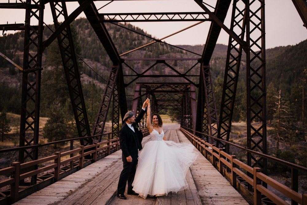 april + aran's adventurous wedding on the clark fork river | white raven wedding + event center | montana wedding photographer